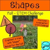 Shape STEM Challenge with Fall Leaf Shape Trees