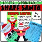 Digital and Printable Shape Santa