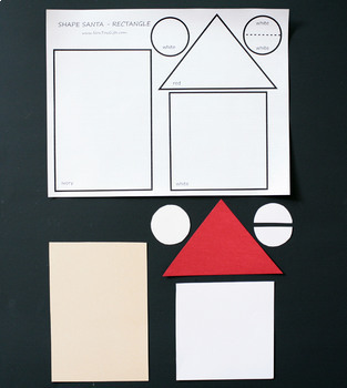 Shape Santa Craft with Printable - Shape Unit / Christmas Craftivity