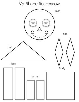 Shape Scarecrow: Free One-Page Math Craft