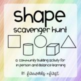 Shape Scavenger Hunt | A Community Building Activity