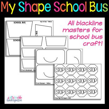 Shape School Bus - Back to School Math Craft