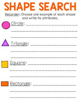 Shape Search: A Circle, Triangle, Square & Rectangle Scavenger Hunt