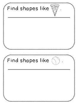 Shape Search Book (Kindergarten Activity, K.G.1)