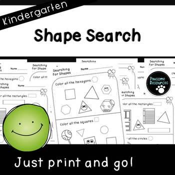 Shape Search (Kindergarten Student Sheets, K.G.2)