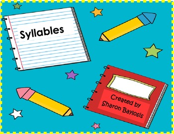 Syllables and Sentence Writing Activity