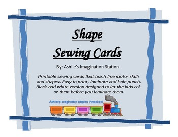 Shape Sewing Cards