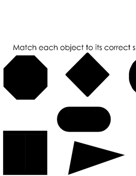 Shape Shadows Shape Matching Center Game