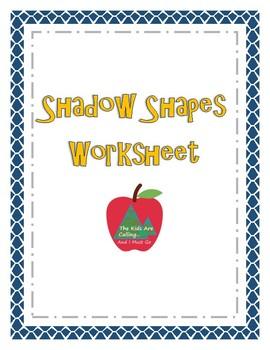 Shape Shadows Worksheet
