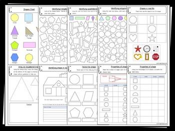 2D Shape – 40+ printable – Maths (Geometry)