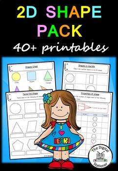 2D Shape – 40+ printable worksheets – Maths (Geometry)