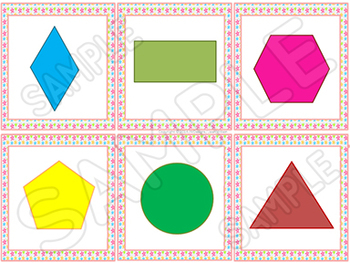 Shapes Math Centers and Games - I have who has and more!