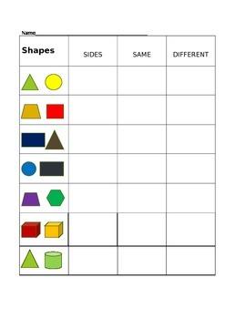 Shapes, Sides, Same & Different