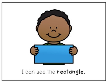 Shape Sight Word Books - RECTANGLE