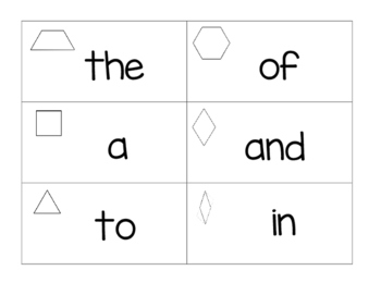 Shape Sight Words
