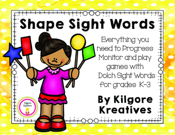 Shape Sight Words (Dolch Sight Word Progress Monitoring)