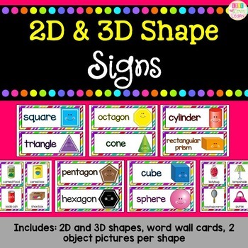 Shape Signs (2-D and 3-D)