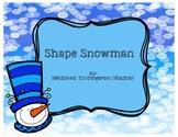 Shape Snowman