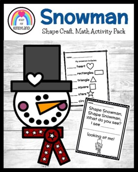 Shape Snowman Craft