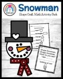 Shape Snowman Craft for Kindergarten (Winter)