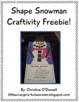 Shape Snowman Craftivity Freebie!