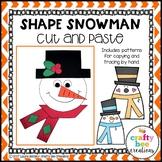 Snowman Craft {Shape Snowman}