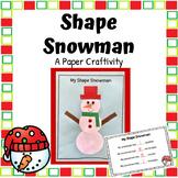 Shape Snowman Paper Craft