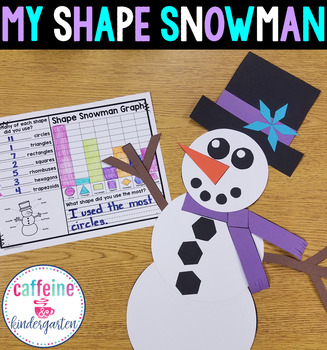 Shape Snowman - Winter Math Activity