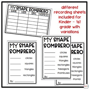 Shape Sombrero | Cinco de Mayo activities | Shape activities