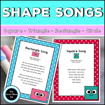 Preschool and Kindergarten Shape Songs and Poster Pack