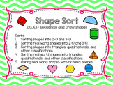 Shape Sort (2-D, 3-D, Triangles, Quadrilaterals)