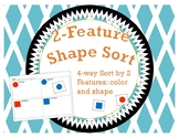 Shape Sort: 2 Features / 4-way Cut and Paste Sort / Sort b