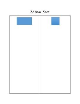 Shape Sort Cut and Paste Square versus Rectangle