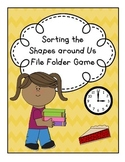 Shape Sort File Folder Game