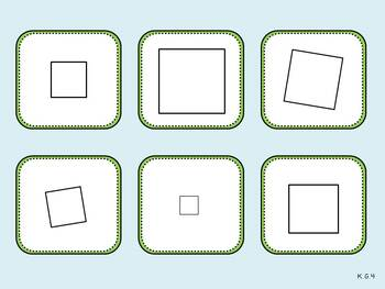 Sorting Sides Mat (Kindergarten Geometry Activity, K.G.4)