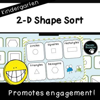Shape Sort Mat (Kindergarten Geometry Activity, K.G.2)