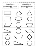 Shape Sort -- Open vs. Closed Figures
