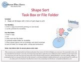 Shape Sort Task Box or File Folder