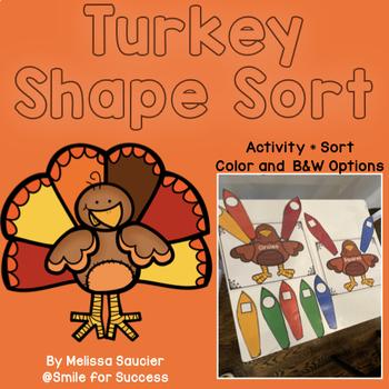 Shape Sort | Turkey Themed