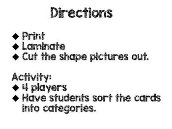 Shape Sort and Identification for Kindergarten