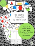 2D Shape Sort by Attributes