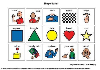 Shape Sorter - Aided Language Board