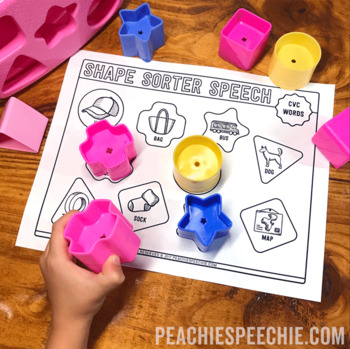 Shape Sorter Speech: Apraxia / Simple Syllable Shapes