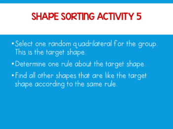Shape Sorting Activity