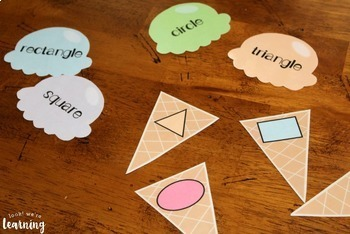 Shape Sorting Activity - Ice Cream Shape & Sort!