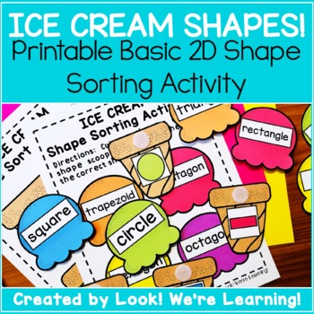 Shape Sorting Activity - Ice Cream Shape & Sort!