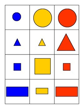 Shape Sorting Cards