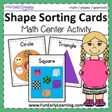 Shape Sorting Cards - Hands-on Activity {Common Core}