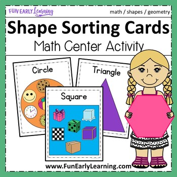 Shape Sorting Cards - Math Center Activity