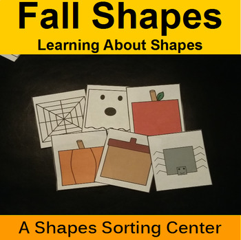 Shape Sorting Center with Fall and Halloween Themes